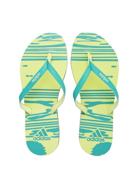 Adidas Women Blue & Yellow Jung W S Printed Flip-Flops
