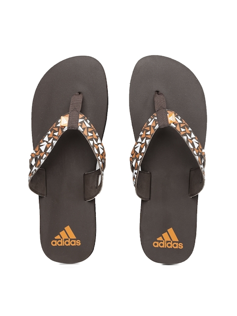 ADIDAS Men Coffee Brown Ozor MS Printed Flip-Flops