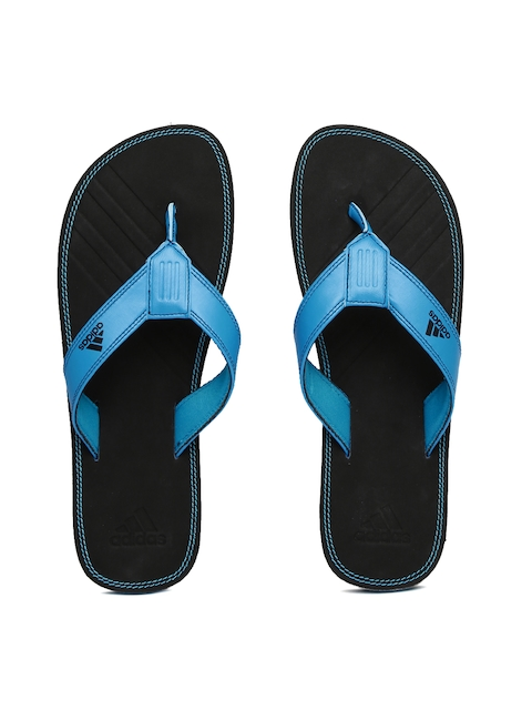 ADIDAS Men Blue & Black Brizo 4.0 MS Flip-Flops
