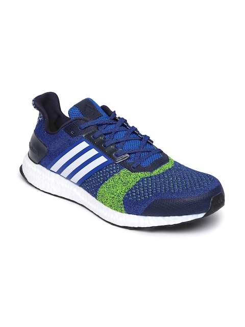 Adidas Men Blue & Green Ultra Boost ST M Running Shoes