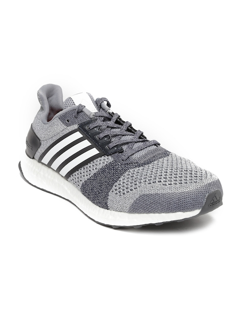Adidas Men Grey Ultra Boost Running ST Shoes