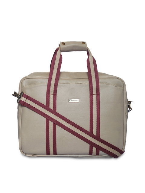Impulse Unisex Cream-Coloured Laptop Bag