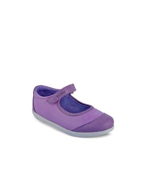 Beanz Girls Purple Solid Mary Janes
