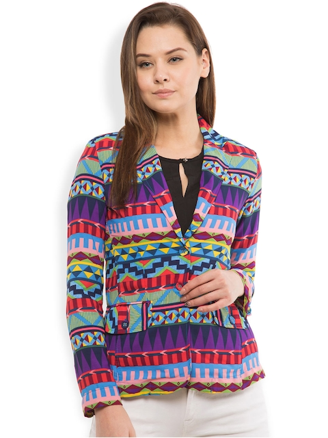 Folklore Women Multicoloured Printed Jacket