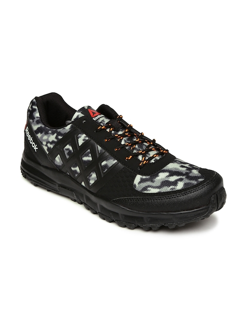 Reebok Men Black & Grey Camo Trek Walking Shoes