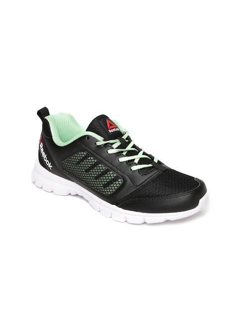 Reebok Women Black & Green Stormer Running Shoes