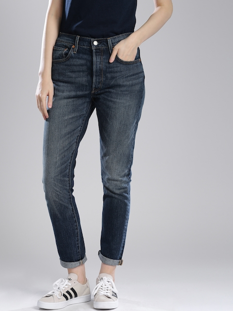 Levis Blue Skinny Fit Stretchable Jeans 501