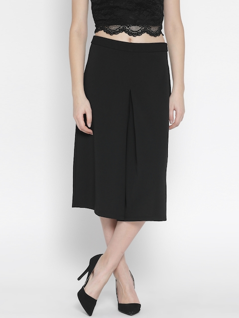 United Colors of Benetton Women Black Solid Culottes