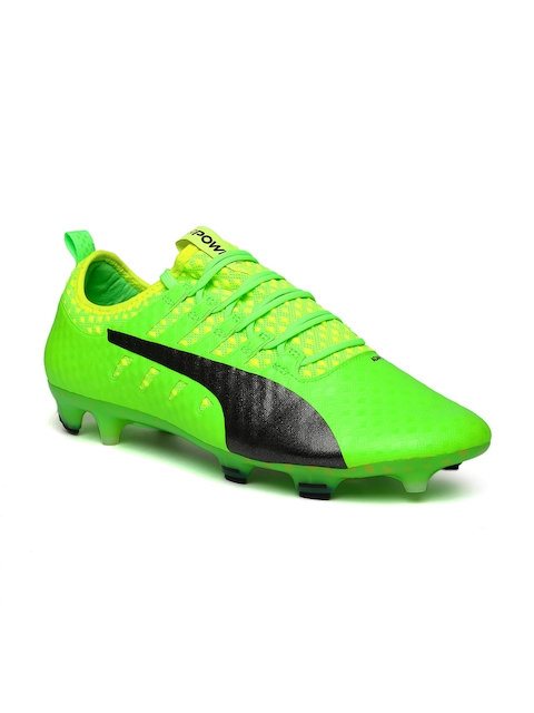 Puma Men Fluorescent Green Evopower Vigor 1 Football Shoes