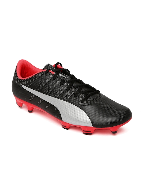Puma Men Black & Grey Evopower Vigor 4 FG Printed Football Shoes  available at myntra for Rs.1499