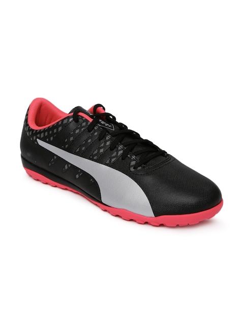 Puma Men Black & Grey Evopower Vigor 4 TT Printed Football Shoes