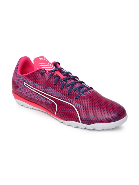 Puma Men Pink & Blue 365 Ignite ST Football Shoes