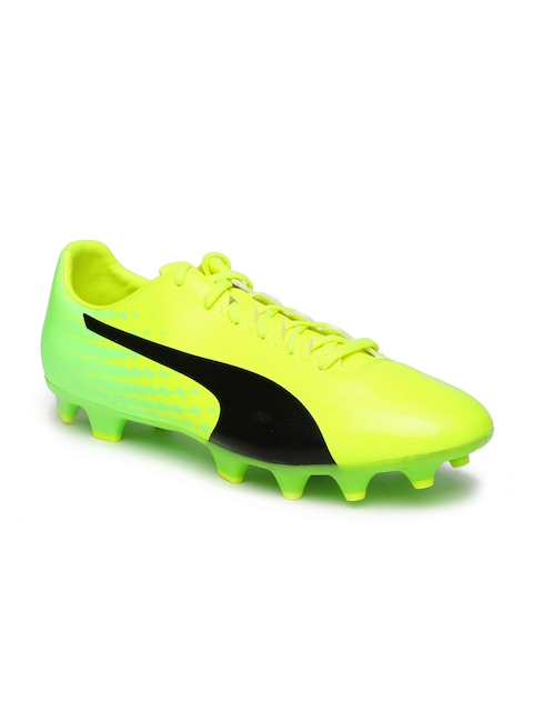 Puma Men Fluorescent Green EVOSPEED Football Shoes  available at myntra for Rs.1199