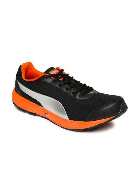 Puma Men Black & Silver-Toned Reef Fashion Running Shoes