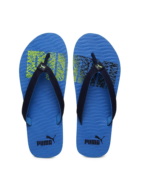 Puma Unisex Blue Miami Fashion II DP Printed Flip-Flops  available at myntra for Rs.419