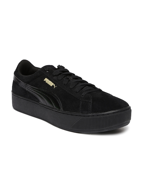 Puma Women Black Vikky Platform Sneakers