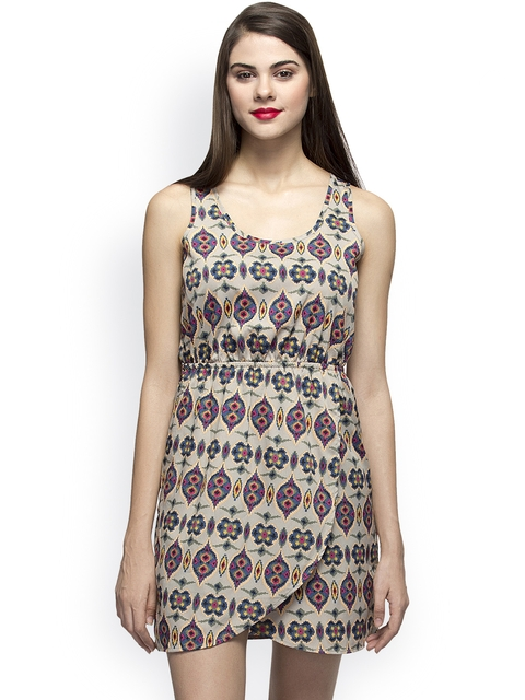 Oxolloxo Women Multicoloured Printed Sheath Dress  available at myntra for Rs.439