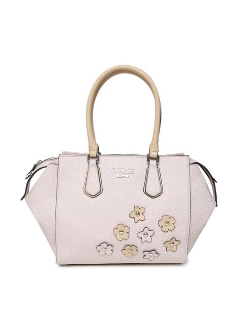 GUESS Pink Printed Handheld Bag