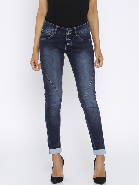 Global Desi Women Blue Regular Fit Jeans