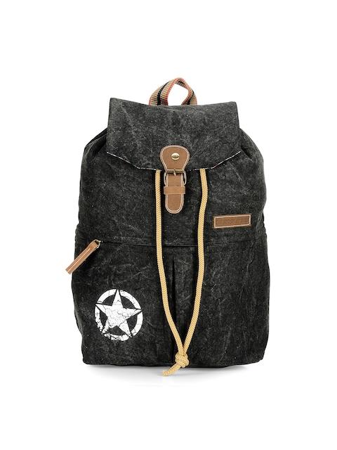 The House of Tara Unisex Black Washed Backpack