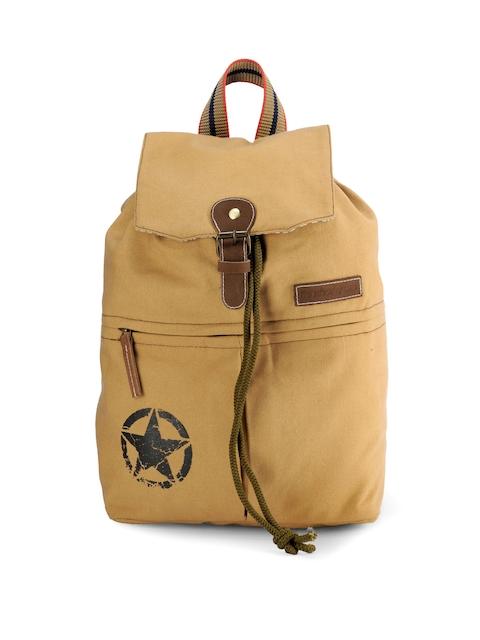 The House of Tara Unisex Beige Backpack