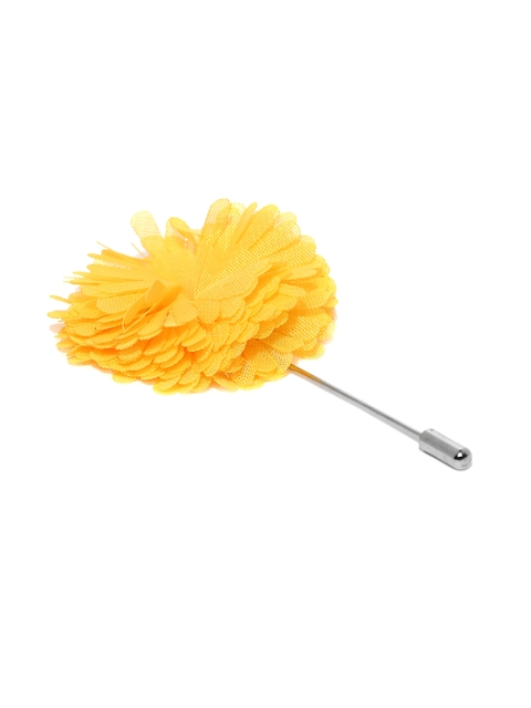 The Bro Code Men Yellow Carnation Detail Lapel Pin