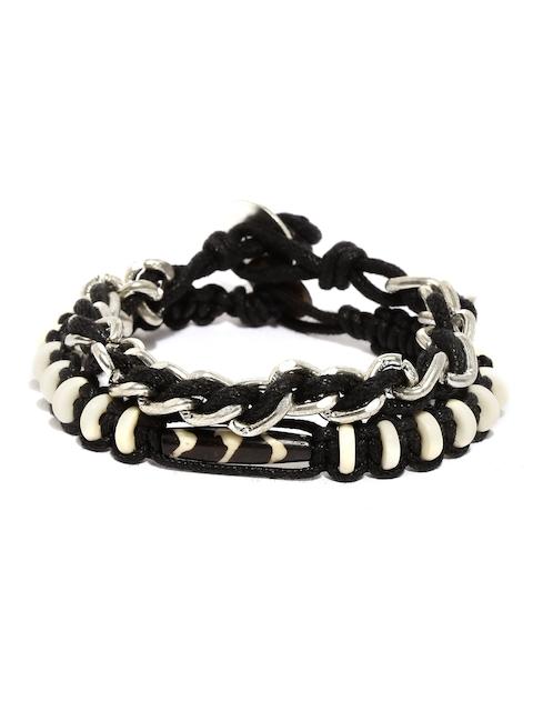 The Bro Code Men Black & White Set of 2 Bracelets