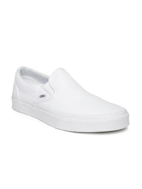 Vans Unisex White Solid Regular Classic Slip-On Sneakers  available at myntra for Rs.1949
