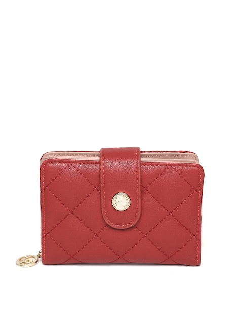 Lisa Haydon for Lino Perros Women Red Quilted Wallet  available at myntra for Rs.492