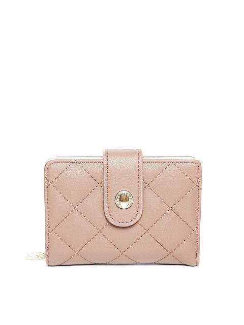 Lisa Haydon for Lino Perros Women Beige Quilted Wallet