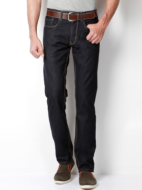 Peter England Men Navy Slim Fit Mid-Rise Clean Look Jeans