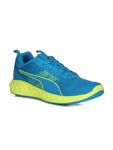 Puma Men Blue & Yellow Ignite Ultimate 2 Running Shoes