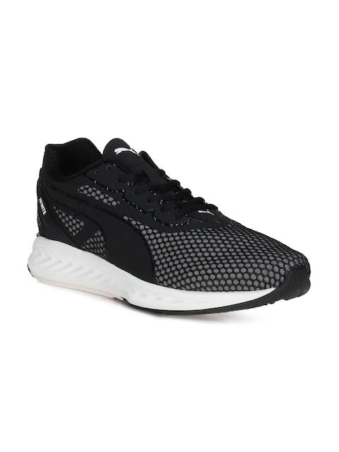 Puma Men Black & White Ignite 3 Running Shoes