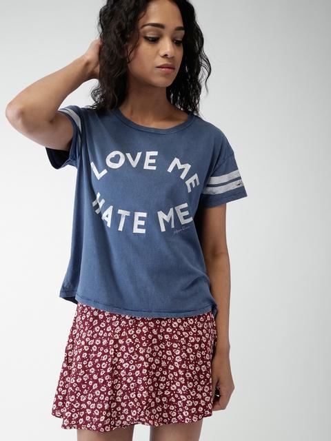Tommy Hilfiger Blue Printed T-shirt