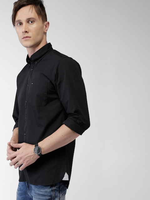 Tommy Hilfiger Black New York Fit Casual Shirt