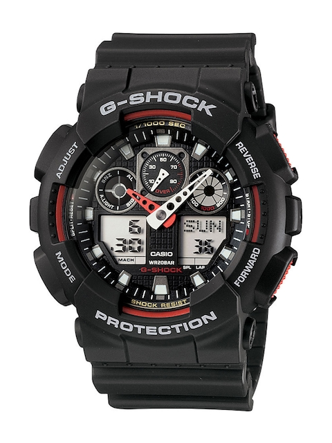 CASIO G-Shock Men Black Dial Extra Large-Combination Watch GA-100-1A4DR - G272