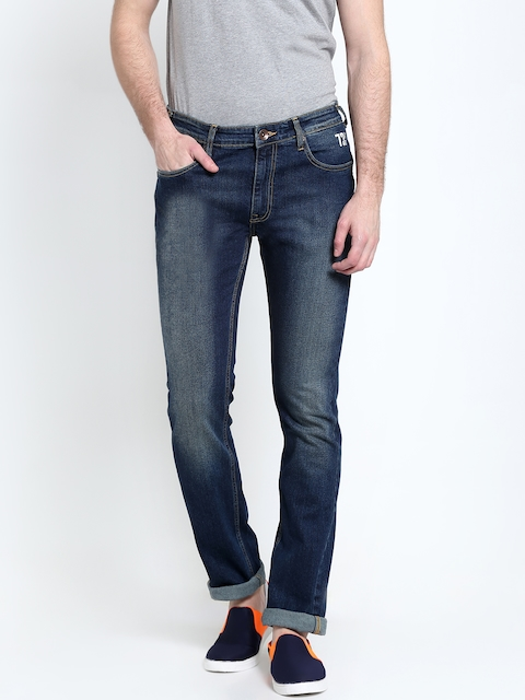 Pepe Jeans Men Navy Blue Slim Fit Low-Rise Clean Look Jeans