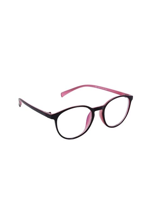 Olvin Unisex Black & Pink Oval Frames OL2341-05