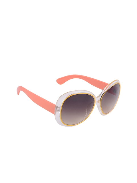 Olvin Grey Women Oval Sunglasses