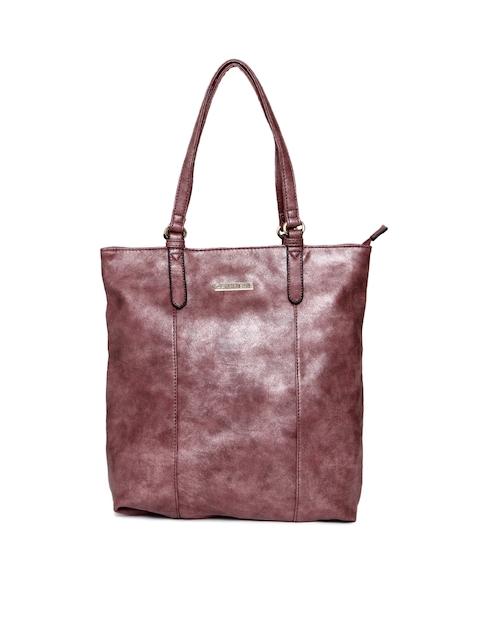 Caprese Maroon Metallic Shoulder Bag