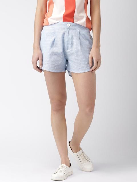 Mast & Harbour Women Navy Blue Shorts