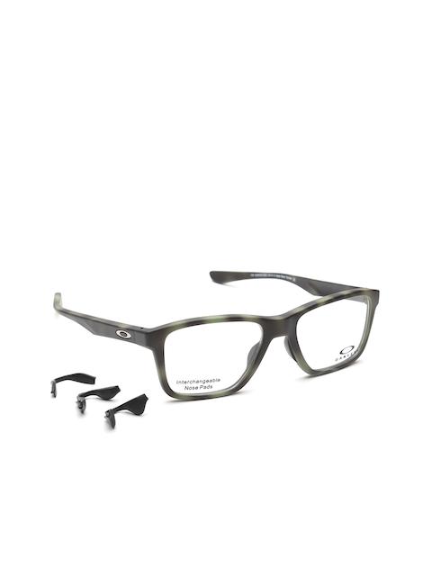 OAKLEY Unisex Charcoal Grey Printed Rectangular Frames 0OX810781070553