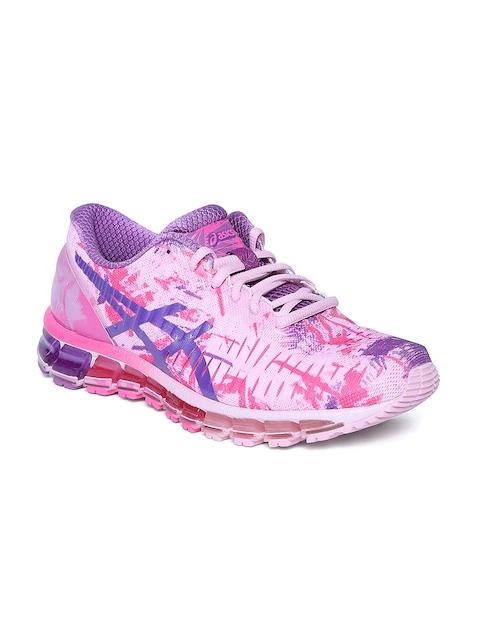 ASICS Women Pink & Blue Gel Quantum 360 Printed Running Shoes