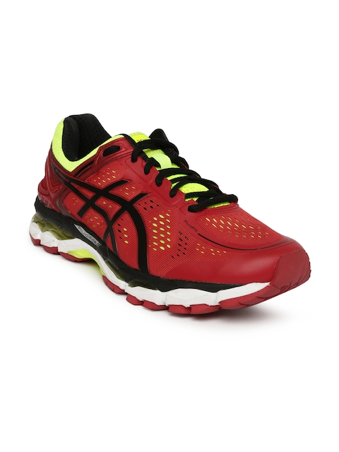 ASICS Men Red Gel-Kayano 22 Running Shoes  available at myntra for Rs.8124