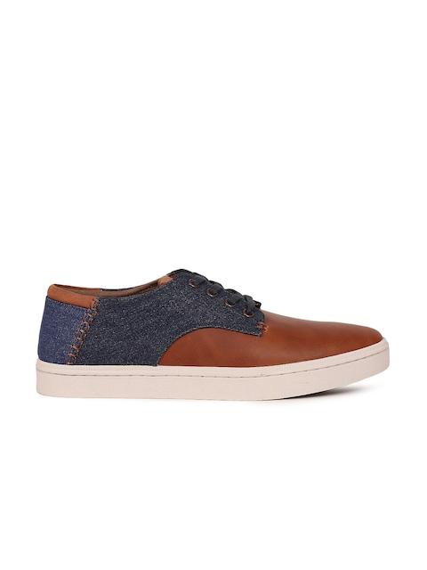ALDO Men Brown & Navy Colourblocked Sneakers