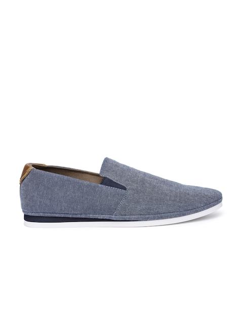 ALDO Men Blue Solid Regular Slip-On Sneakers