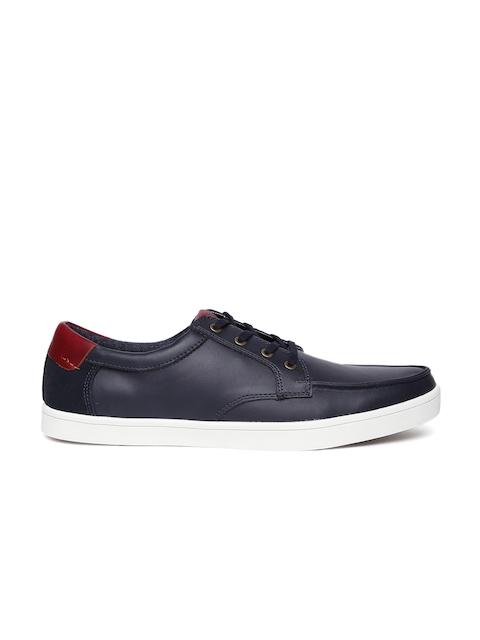 ALDO Men Navy Solid Regular Sneakers