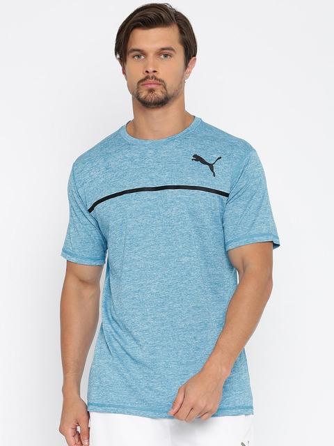 Puma Men Blue Bonded Tech SS DryCELL T-shirt