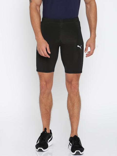 PUMA Men Black Solid Speed Sports Shorts