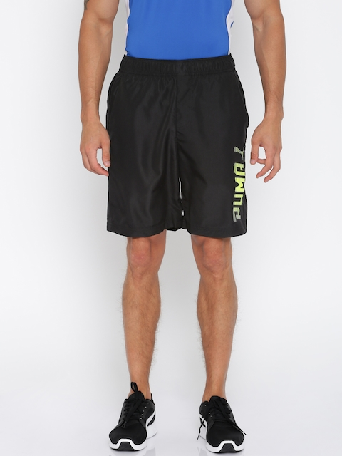 Puma Men Black Rebel Woven Solid Regular Fit Shorts